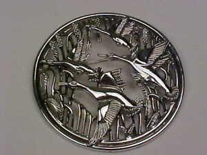 """Vintage Sarah Coventry """"Birds in Flight"""" (1967) Brooch"""