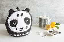 Now Designs Tea Cozy Poppy Panda Bear Shaped Cosy Nwt 100% Cotton Black White