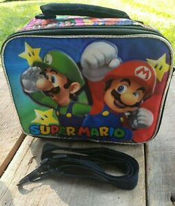 Super Mario Insulated Back to School Lunch Bag/Lunch Box * MINT