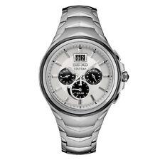 Seiko Men's Coutura Solar Chronograph Stainless Silver Dial Watch SSC627