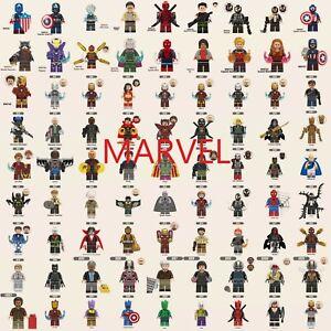 Marvel Minifigures Iron Man Hulk Thanos Venom Captain America Vision Groot Wong