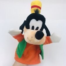 "VINTAGE Disneyland Walt Disney World GOOFY HAND PUPPET 12"" Plush Stuffed Animal"