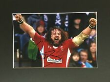 ADAM JONES SIGNED 16 X 12 MOUNTED PHOTO WALES RUGBY PIECE + *COA*