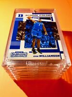 Zion Williamson PANINI CONTENDERS HOT ROOKIE DRAFT PICKS SCHOOL COLORS RC Mint!