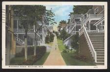 Postcard MACATAWA Michigan/MI  Mishawaka Avenue Terrace Houses/Homes view 1920's