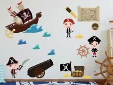 Pirate Ship Wall Stickers / Decors, Removable Fabric Stickers