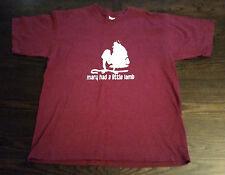 Mary Had a Little Lamb - Funny T-Shirt (Large) - Gildan Activewear 100% Cotton