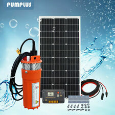 12V Dc Irrigation Solar Water Pump System W/ Solar Panel &Controller &10M Cable