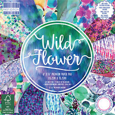 Wild Flower First Edition Paper Pad 6 x 6 - 64 Sheets Scrapbooking Card Crafts