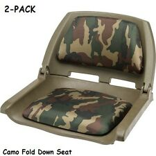 2 Pack Boat Seats Fold Down Camo Padded Seat Bass Fishing Boats Accessories