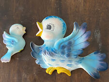 Made In Japan Bluebird Chalkware Wall Hanging