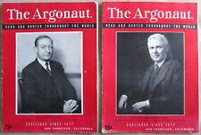 Two 1949 San Francisco The Argonaut Weekly Magazine vintage SF California News