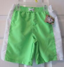 NWT TODDLER BOYS OP GLOW GREEN SWIM TRUNK   SIZE 3T