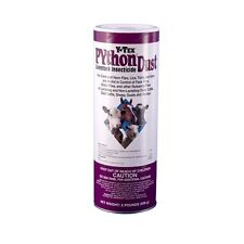 Y-Tex Python Dust Controls Flies on Dairy Beef Sheep Goats Horses 2# Can