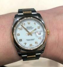 Rolex Datejust 116203 Two Tone, White Dial, Roulette Date Wheel