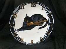 Unique Black Cat Wall Clock, you will never see another, superb !!!