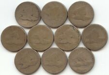 10 Pieces 1856-1858 Flying Eagle Cent, All Low Grade, True Auction, No Reserve
