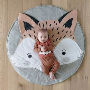 90CM Round Baby Playmat Soft Cotton Play Mats Crawling Creeping Mat Floor Carpet