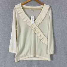 Banana Republic Womens Shirt Blouse Long Sleeve Ivory Size XL