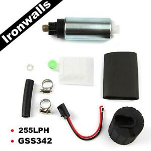 High Pressure Walbro Electric Fuel Pump Racing In tank 255Lph GSS342 with Kit