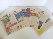 World Collection mix of Used Stamps, US, Canada,Africa, Nederland 1 Thru 6 Cents