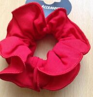 A Red Ruffle Scrunchie Ponytail Band / Bobble