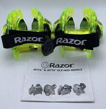 Razor TurbO Jetts DLC Heel Wheels Neon Lighted JJX250587 Adjustable