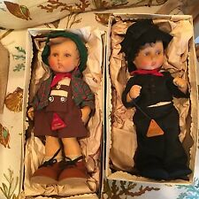 Pair Authentic  German HUMMEL DOLLS Germany 1950s WWII Original Boxes GOEBEL