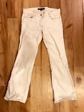 French Connection Jeans Size 10, length 34 in. - Cream with Pink Stiching