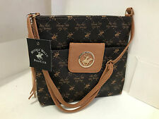 NEW! BEVERLY HILLS POLO CLUB TAN BROWN CROSSBODY MESSENGER SLING BAG PURSE SALE