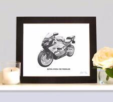 REPSOL HONDA CBR FIREBLADE Art Print Drawing Picture MOUNTED Present Gift