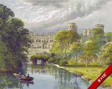 VIEW OF WARWICK CASTLE ENGLAND UNITED KINGDOM PAINTING ART REAL CANVAS PRINT
