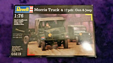 REVELL (Ex-MATCHBOX) 1:76 MORRIS TRUCK, 17PDR. GUN & JEEP Model Kit 03219 PK172