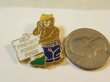 SMOKEY THE BEAR PREVENT FOREST FIRES PIN HELP