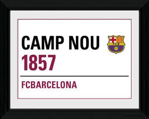 FC BARCELONA CAMP NOU STREET SIGN FRAMED PICTURE 16' x 20' OFFICIALLY LICENSED