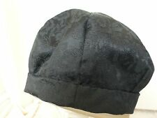 Black Jacquard Weave Beret Hat Handmade