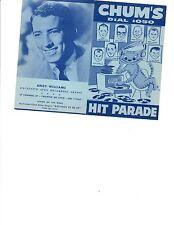 BIG BOPPER ELVIS  CASH COCHRAN BUDDY HOLLY BERRY WILLIAMS 1958 HANDBILL
