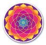 Mandala Arts Fenêtre Autocollant Double Face: Doré Lotus 11.7cm