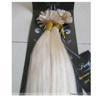 """AAA 20"""" Human Hair Extensions Nail U-tip Straight 100s 1g/s 100g Blonde #60"""
