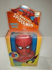 1986 BBI THE AMAZING SPIDER-MAN MONEY BANK MARVEL NEW IN BOX