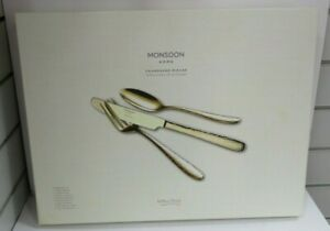 ARTHUR PRICE MONSOON HOME CHAMPAGNE MIRAGE STAINLESS STEEL 44 PIECE CUTLERY SET