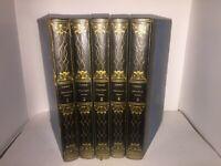 Messéniennes poésies diverses, théâtre par Delavigne 5 volumes reliures gravures