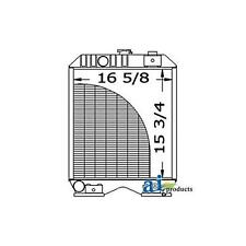 SBA310100620 New A&I Radiator for Ford/New Holland Tractor TC30 1320 1520 1620