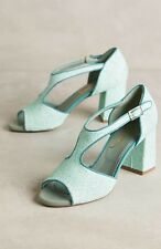 NEW Anthropologie Candied T-Strap Heels Size 38 Paola d'Arcano