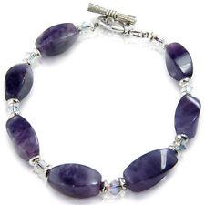 Bracelet Améthyste Twist Cristal Naturel Gemme Guérison Gem Stone