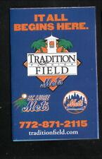 St Lucie Mets--New York Mets Spring Training--2007 Pocket Schedule--Budweiser