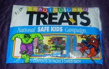 TRADING CARD TREATS  IMPEL  1991 HALLOWEEN  SEALED BAG   MARVEL SUPER HEROES