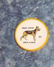 Humpty Dumpty Potato Chips Dogs # 33 German Shepard  yellow coin