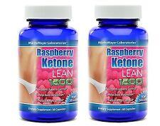 2 BOT RASPBERRY KETONE LEAN Advanced Fat Weight Loss 1200 mg 60 CAPS MaritzMayer