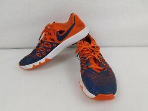 Nike Denver Broncos Sneaker Shoes Orange Football NFL Athletic Men Size 10.5